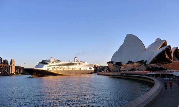 Cruising into Sydney, Australia