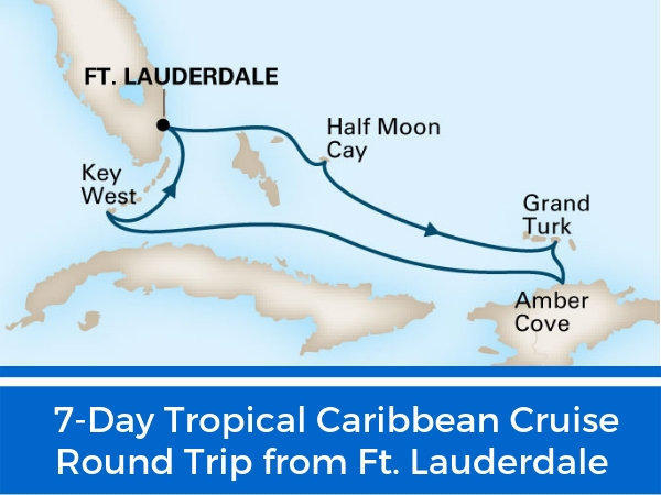 7-Day Tropical Caribbean cruise